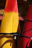 stock photo of burlington  - Kayaks ready for use in Burlington Vermont  - JPG