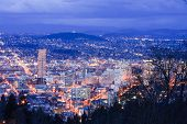 Beautiful Night Vista Of Portland, Oregon