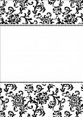 pic of ivy vine  - Vector asian themed frame - JPG