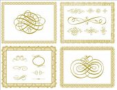 picture of certificate  - Set of vector certificate borders and ornaments - JPG