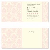 stock photo of wedding invitation  - Set of ornate vector frames - JPG