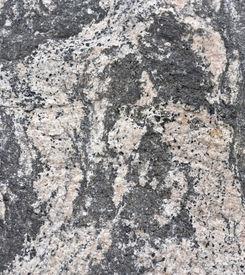 picture of feldspar  - Folded gneiss with amphibolite feldspar and quartz - JPG