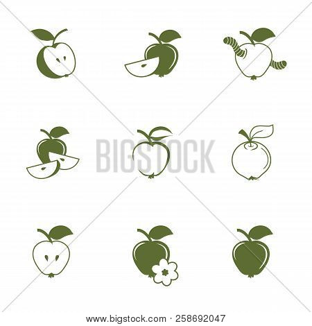 Hand Drawn Apple Icons Natural