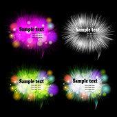 Furry vector bubbles for speech. poster