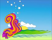 stock photo of woodstock  - psychedelic pop art 3 - JPG
