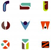 pic of asymmetrical  - letter icons - JPG