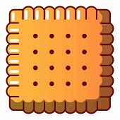 Tasty Biscuit Icon. Cartoon Illustration Of Tasty Biscuit Icon For Web poster