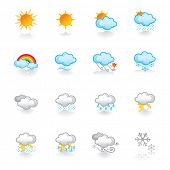stock photo of natural phenomena  - weather icons - JPG