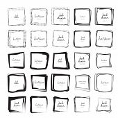 Square Doodle Sketches Scribbles For Frames Isolated poster