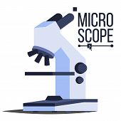 Professional Microscope Icon Vector. Laboratory Science Symbol. Macro. Discovery Research Symbol. Is poster