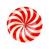 Candy Sweet Swirl Icon. Cartoon Of Candy Sweet Swirl Vector Icon For Web Design Isolated On White Ba poster