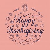Happy Thanksgiving Day Concept Background. Simple Illustration Of Happy Thanksgiving Day Vector Conc poster