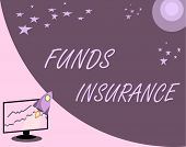 Handwriting Text Funds Insurance. Concept Meaning Form Of Collective Investment Offered An Assurance poster