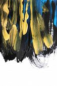 Colorful Acrylic Abstract Painting On White As A Background poster