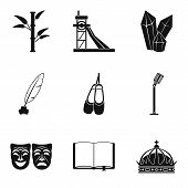 Finding Icons Set. Simple Set Of 9 Finding Icons For Web Isolated On White Background poster