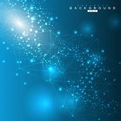 Big Data Visualization Background. Modern Futuristic Virtual Abstract Background. Science Network Pa poster
