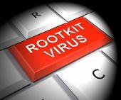 Rootkit Virus Cyber Criminal Spyware 3D Rendering poster