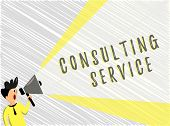 Word Writing Text Consulting Service. Business Concept For Experts That Offers Knowledge To A Third  poster