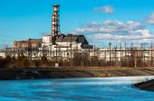 stock photo of radium  - Industrial photo of Chernobyl in march 2012 - JPG