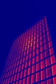 Tall Office Building In Thermal Imaging Simulation