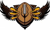 image of claw  - Graphic Vector Image of a Eagle Claws or Talons Holding a Football - JPG