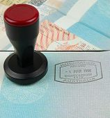 immigration visa stamp and stamping tool