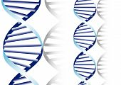 foto of double helix  - double DNA helix biochemical abstract background wirh strands - JPG