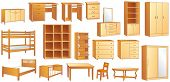 picture of bunk-bed  - Wooden furniture set - JPG