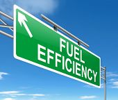image of fuel efficiency  - Illustration depicting a sign with a fuel effiency concept - JPG