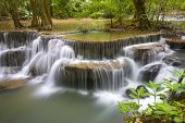 picture of waterfalls  - Huay Mae Khamin Waterfall - JPG