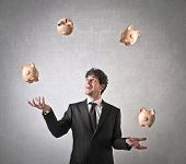 stock photo of juggler  - Money Juggling - JPG