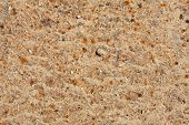 stock photo of ferrous metal  - Rusty textured metal surface background with debris - JPG
