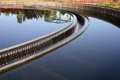 image of wastewater  - The cleaning construction pool for sewage treatment - JPG