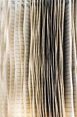 stock photo of splayed  - Background texture of the splayed edges of the pages of a diary used to schedule appointments in an office or keep a record of personal daily life