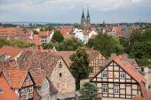 Cityscape Of Medieval City Quedlinburg poster