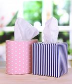 picture of snot  - Cleaning wipes on window background - JPG