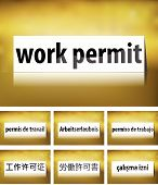 Work Permit Concept on white background
