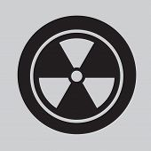 image of radium  - image of Radiation Symbol icon Vector isolated on background - JPG