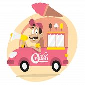 stock photo of ice-cream truck  - Illustration - JPG