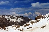 picture of taurus  - Rocks with snow - JPG