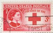 Usa - Circa 1948: A Stamp Printed By Usa Honors Clara Barton Founder Of The Red Cross Circa  1948.