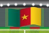Постер, плакат: Cameroon football fan cheering