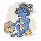 foto of lord krishna  - Hindu God Krishna - JPG