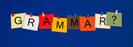 image of verbs  - Grammar sign for verbs - JPG