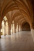stock photo of arcade  - Under an arcade of Hieronymites Monastery  - JPG