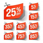 stock photo of coupon  - Sale coupons - JPG