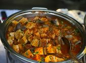 stock photo of paneer  - Indian cottage cheese cooked with special spices - JPG