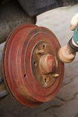 Polishing brake drum poster