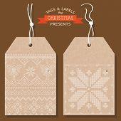 foto of scandinavian  - Christmas Tags or Labels - JPG