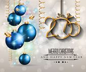 picture of xmas star  - 2015 New Year and Happy Christmas background for your flyers - JPG